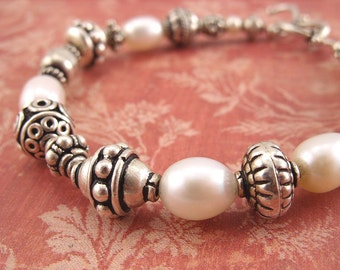 Bracelet - Sterling Silver and Freshwater Pearls