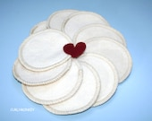 10 Organic Cotton Facial Rounds - Reusable Makeup Rounds - Organic Facial Pads - Hemp Organic Cotton Fleece