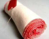 baby cloth wipes: eco organic hemp wash cloths 18 pk in Red