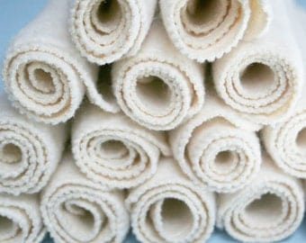 "18 Large Organic Baby Wipes - Cloth Diaper Wipes - Reusable Wipes - Hemp Organic Cotton Fleece 9"" X 9"""