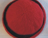 Reserved for Lanies 50% off Red Merino Wool Felted Cloche Hat