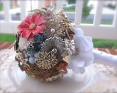 Blessing Bouquet - Mixed Colors - Vintage Brooch Bridal Bouquet - New Price