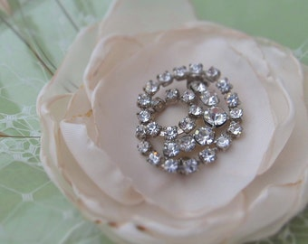 Vintage Floral Brooch Fascinator - NEW PRICE