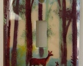 Doe and Fawn Light Switch Plate
