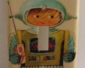 Junior Robot Light Switch Plate