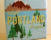 Visit Portland Oregon Tile Coaster