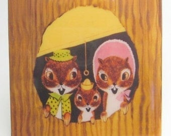 Sweet Squirrel Family Tile Coaster