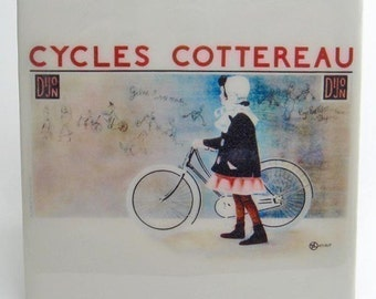 Vintage Bicycle Tile Coaster