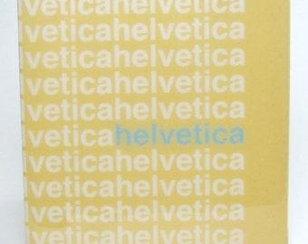Helvetica Mustard Tile Coaster