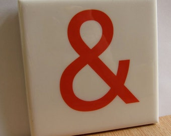 Ampersand Tile Coaster