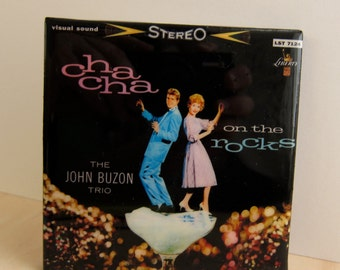 Cha Cha on the Rocks Album Cover Tile Coaster