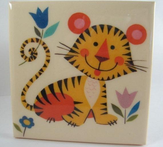 Vintage Tiger Tile Coaster