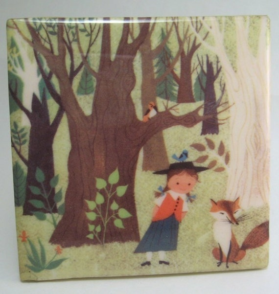 Fox and Friends Tile Coaster