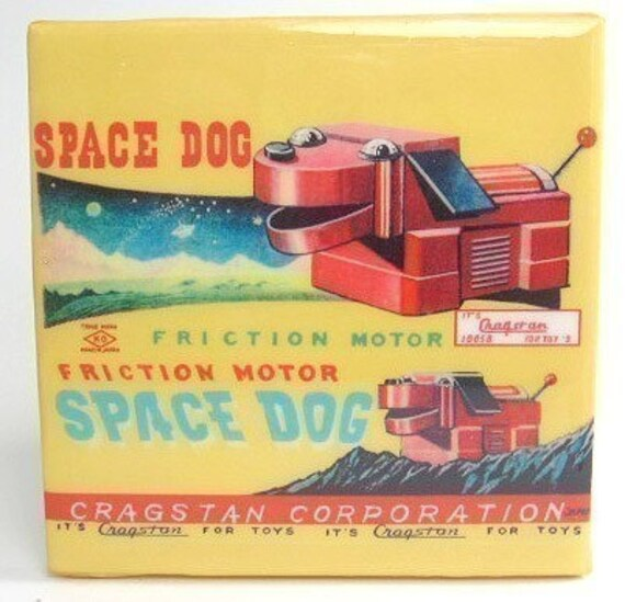 Space Dog Tile Coaster