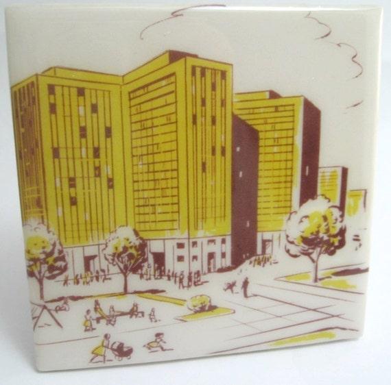 Metro Building Tile Coaster