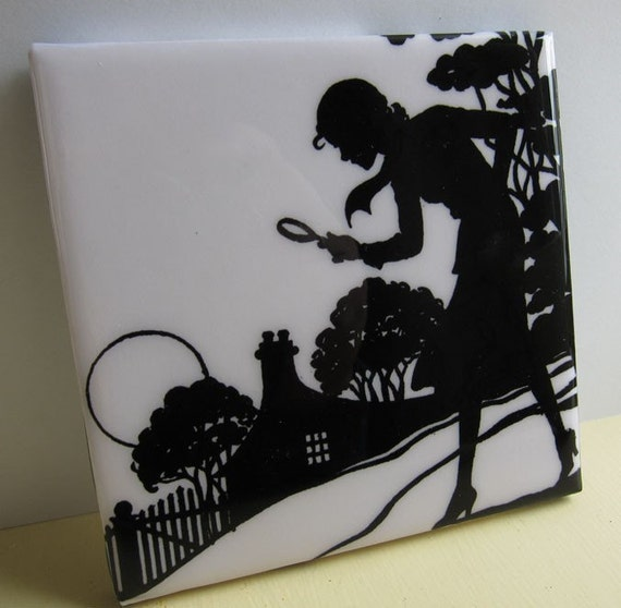 Nancy Drew Tile Coaster