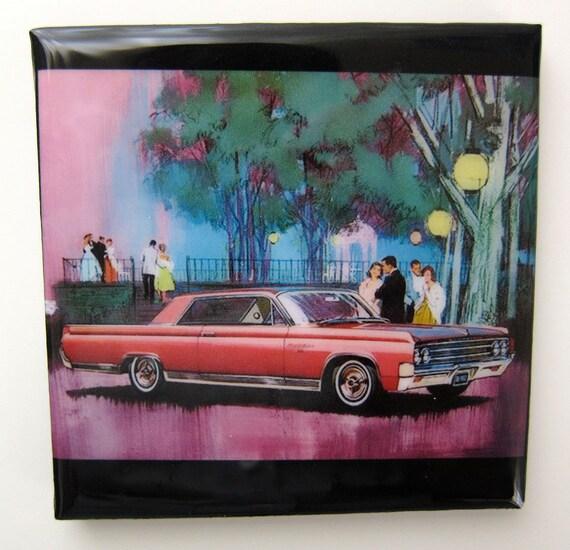 63 Oldsmobile Tile Coaster