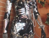 "Modern Art Mannequin - Olympia - Futuristic Steampunk  - 3D Gothic - 34"" tall"