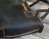 Reserved Rustic Leather Tote Hand stitched by Feral Empire