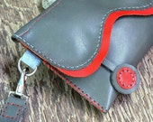 SALE  the Wavelet II  hand stitched leather Wristlet Feral Empire