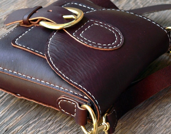 Amble Bag  hand stitched leather purse by Feral Empire