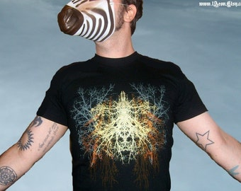 nature t-shirt, fathers day, mens tree t-shirt, screen print, mens graphic tee, mens black t-shirt, 1AEON black mens Tree tee, S-XXL