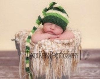 Sweet Baby Hat - Rubber Duckie - Newborn to Six Months, elf hat, pixie hat, shower gift, newborn photography prop, baby shower, baby gift