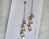 cascade pearl drop earrings
