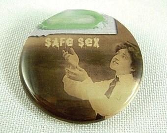 Safe Sex - Pinback Button or Magnet