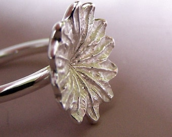 Poppy Ring - Large - Sterling Silver - READY TO SHIP in size 9