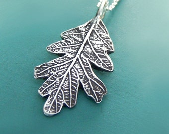 Oak Leaf Necklace in Sterling Silver