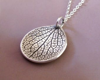 Sterling Silver Petal Necklace - Last Minute Gift