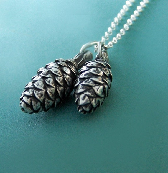 Pine Cone Charm Necklace Sterling Silver Mother S Day