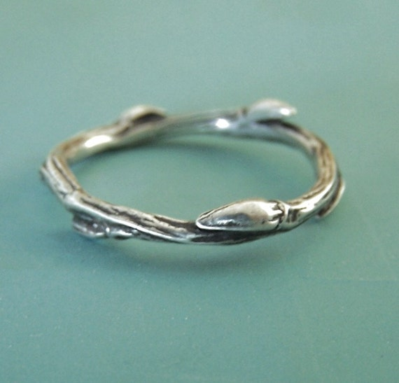 Willow Twig Ring in Sterling Silver