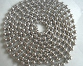 Silver Ball Chain with Connector - 18 Inches or shorter