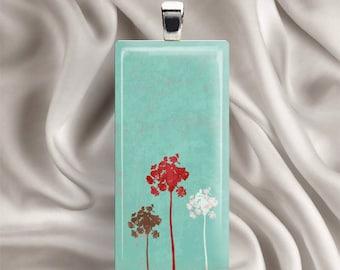 Dandelion Dreams - Glass Tile Pendant Necklace