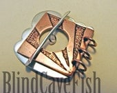 Silver and Copper Toggle Clasp