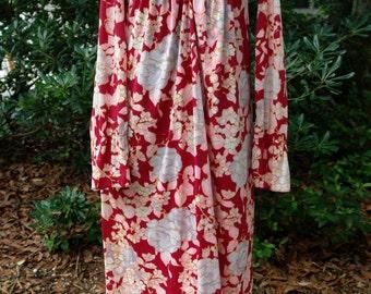 Vintage Babydoll 70's Maxi Dress