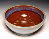 Large Dog Water Bowl - Brown and Teal Pottery