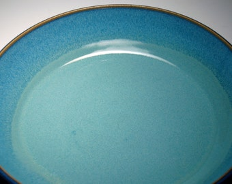 HOLD for NICKY - Large Pasta Bowl - Pie Plate - Blue and Teal Pottery