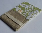 In Touch Pouch for iPhone, iPod in Avocado Damask