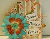 Home Sweet Home mini scrapbook album