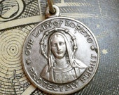 50s Vintage OUR LADY OF LORETO MEDAL Patroness of Aviators and Air Travelers