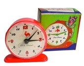 COCK BRAND CLOCK 1950s Plastic Toy Original Clown Box