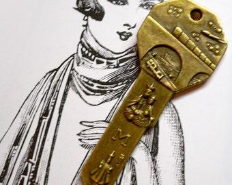SAINT CHRISTOPHER KEY Bronze Travel Amulet