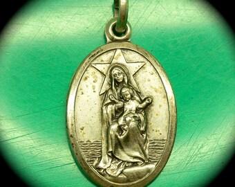 STELLA MARIS MEDAL Virgin Mary of Sea Vintage