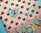 Drawstring Bag, Meandering Bluebird