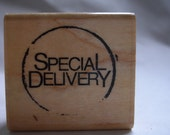 special delivery postal cancellation rubber stamp