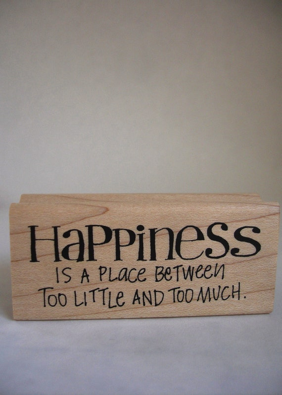 HAPPINESS rubber stamp dawn houser