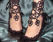 In Bloom Ankle Corsets - Tatted Lace Accessories